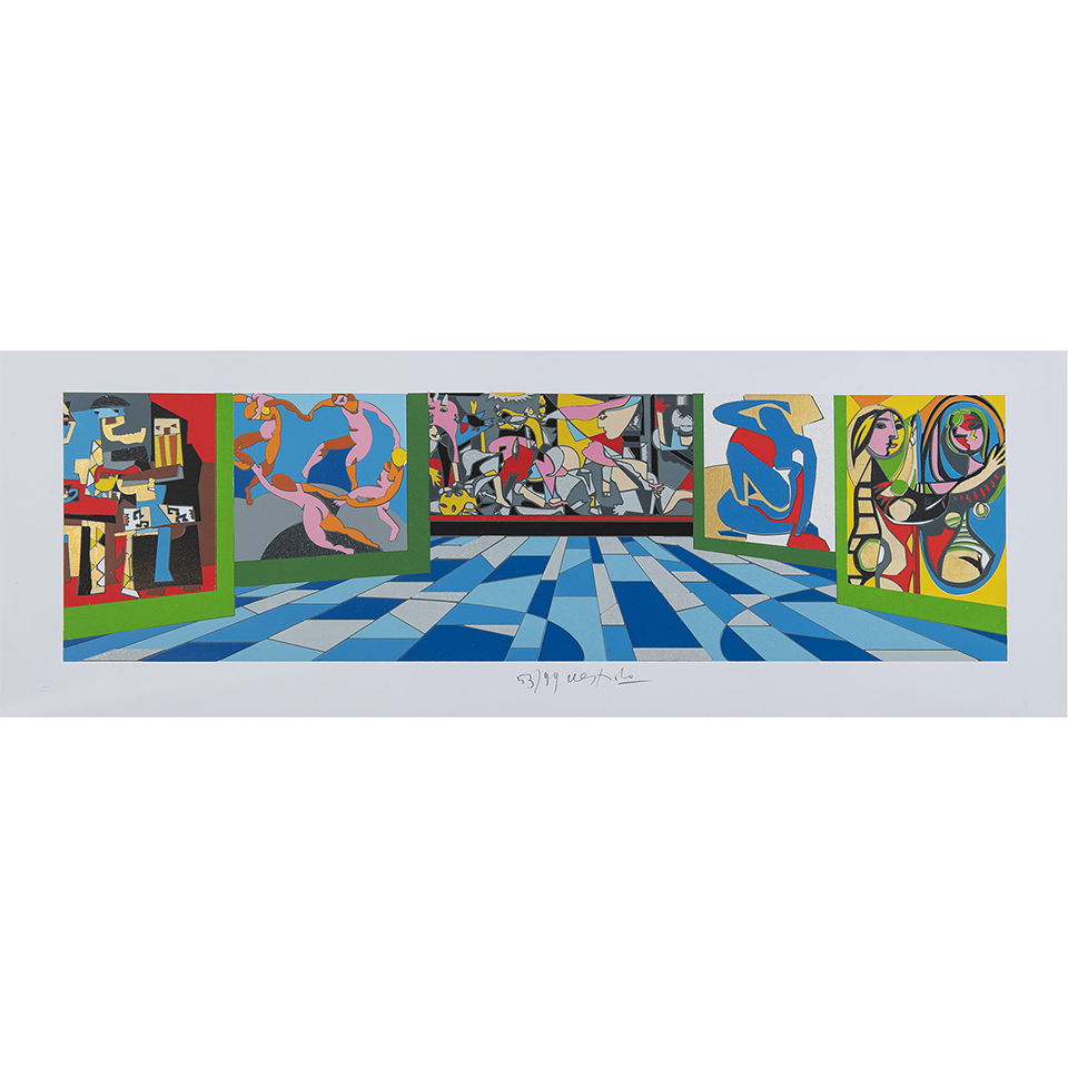 Ugo Nespolo – Museo Del Novecento – Serigrafia 35×100