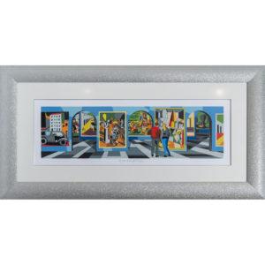 Ugo Nespolo - Museo Metafisico - Serigrafia 65x128cm
