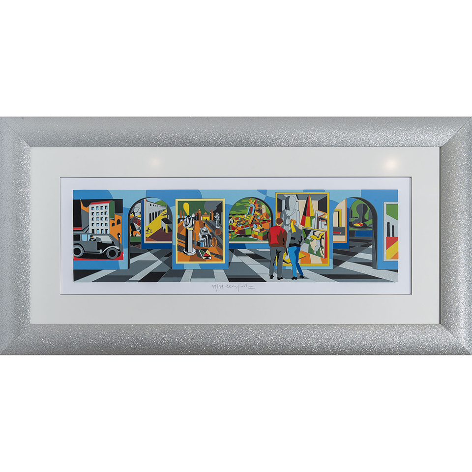 Ugo Nespolo – Museo Metafisico – Serigrafia 65×128