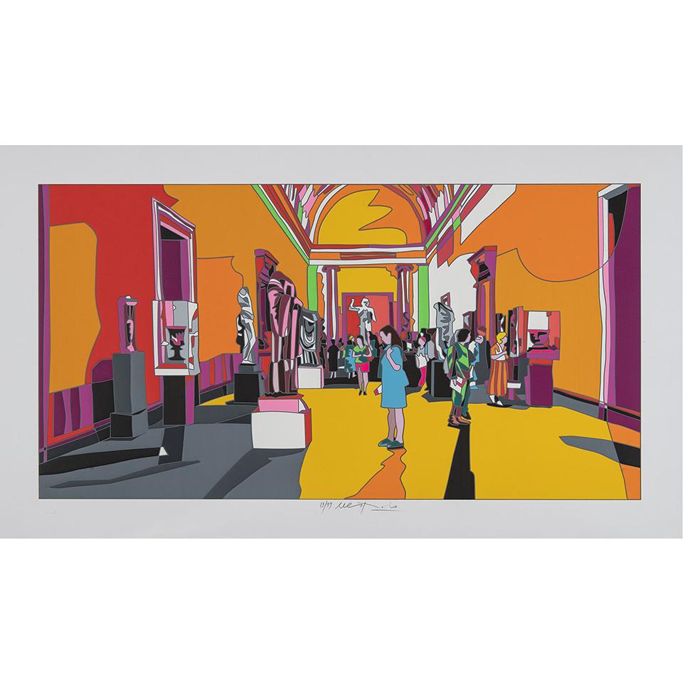 Ugo Nespolo - New York met - Serigrafia 70x120