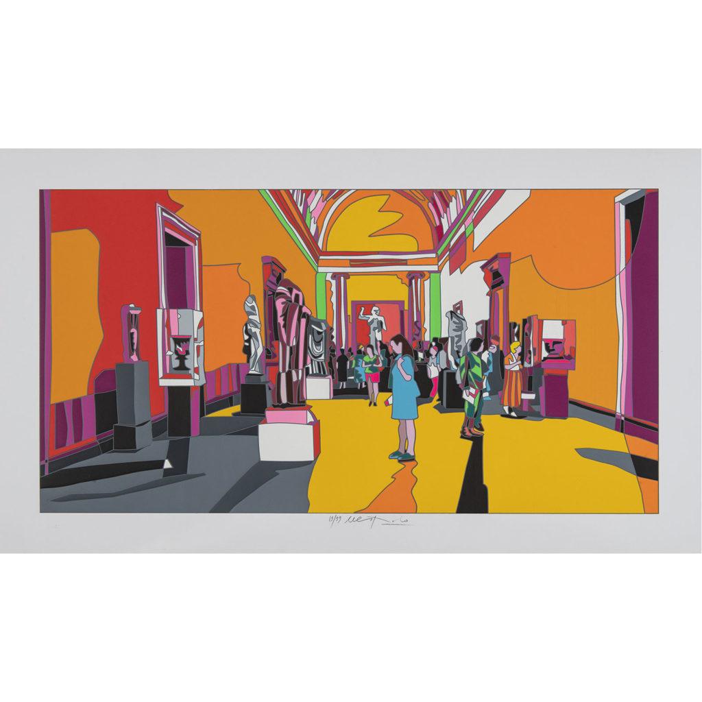 Ugo Nespolo - New York met - Serigrafia 70x120cm