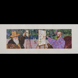Antonio Possenti – A Giverny – Serigrafia Polimaterica 45x120cm