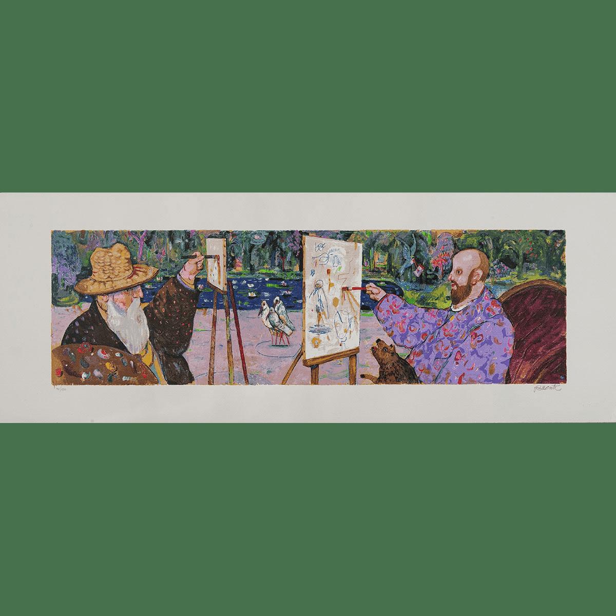Antonio Possenti – A Giverny – Serigrafia Polimaterica 45×120